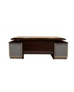 Samtida 193 Modern Executive Desk Dark Walnut