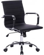 Ultimate 031L Eames Replica Ribbed PU Chrome Lowback Chair
