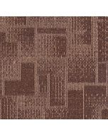 Mahmayi Brooks 100% PP Carpet Tile for Home, Office (50cm x 50cm) Per Square Meter With Free Professional Installation - Rust Brown
