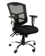 Cadeira 90804 Medium Back Ergonomic Mesh Chair Black
