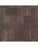 Mahmayi Calgary 100% PP Carpet Tile for Home, Office (50cm x 50cm) Per Square Meter With Free Professional Installation - Dark Brown