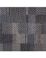 Mahmayi Calgary 100% PP Carpet Tile for Home, Office (50cm x 50cm) Per Square Meter With Free Professional Installation - Black