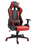 Racer C599 Gaming Chair Red With PU Leatherette & Seat adjustable height