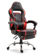 Ultimate C590 Racing Style Gaming Chair Red with Footrest