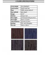 Mahmayi Yellowknife 100% Invista Naylon 6 Carpet Tile for Home, Office (50cm x 50cm) Per Square Meter - Configurable