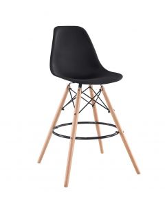 Ultimate Eames Style DSW Bar Stool-Black