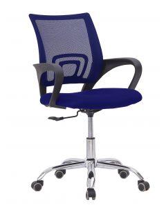 Sleekline 69001 Lowback Chair Blue Mesh