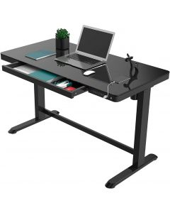 Mahmayi All-in-One Height Adjustable Standing Desk with USB Charging - Black