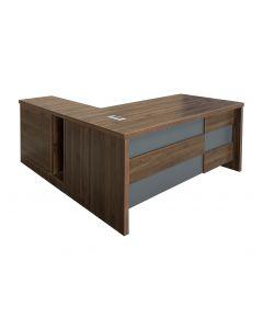 Noce S608 180cm Modern Executive Desk Dark Walnut