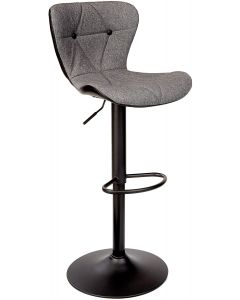 Mahmayi C866 Grey Bar Stool with Adjustable Height - Grey