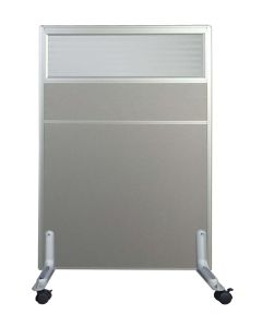 Enva GT60 120 Height Glass 80 Width Aluminium Office Partition Panel with Wheels