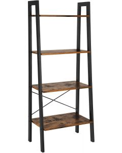 Mahmayi LLS44X 4-Tier Storage Rack, Storage Shelves - Rustic Brown