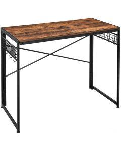 Mahmayi LWD42X Computer Folding Desk, Writing Desk - Rustic Brown