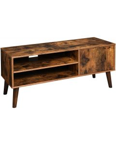 Mahmayi LTV09BX Retro TV Stand, TV Console for TVs up to 43 Inches -  Rustic Brown