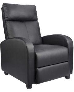 Mahmayi Pu Leather Single Seater Recliner Chair - Black