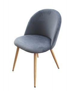 Mahmayi HYDC019 Velvet Grey Dining Chair for Living Room