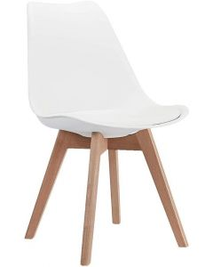 Ultimate Eames Style Retro White Cushion Chair