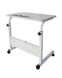 Mahmayi MP3 6040 Desk Height Adjustable Bedside Table - Oak White