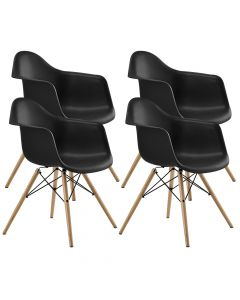 Ultimate Eames Style DAW ArmChair Pack of 4