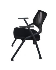 Mahmayi SL 632L Folding Heavy Duty Chair for Home | School | Study Chair Can Withstand upto 150kg - Black