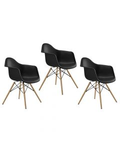 Ultimate Eames Style DAW ArmChair Pack of 3