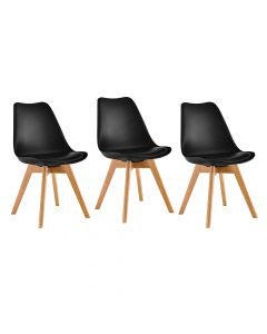 Ultimate Eames Style Retro Cushion Chair Pack of 3