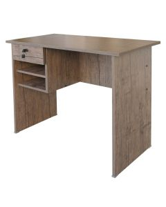 Solama MP1 9045 Office Desk with Paper Rack- Brown