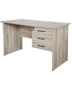 Solama MP1-1260 Writing Table with Hanging Drawers - Oak