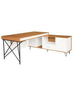Nutima 19516 Modern Executive Desk Light Walnut