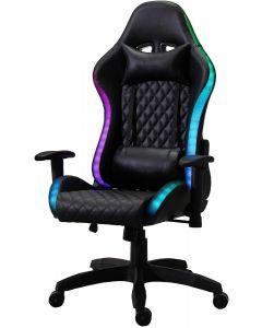 Mahmayi C1583 RGB Gaming Chair with PU Leatherette Black