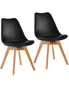 Ultimate Eames Style Retro Cushion Chair - Pack of 2