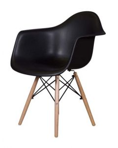 Ultimate Eames Style DAW ArmChair - Black