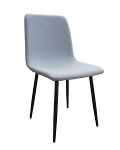 Mahmayi HYDC058 Fabric Cushion Grey Dining Chair for Kitchen, Living Room