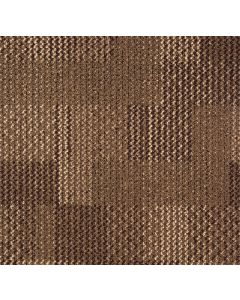Mahmayi Calgary 100% PP Carpet Tile for Home, Office (50cm x 50cm) Per Square Meter With Free Professional Installation - Walnut