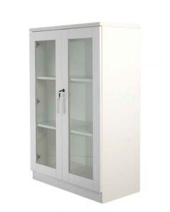Carre 120 White Medium Height Cabinet