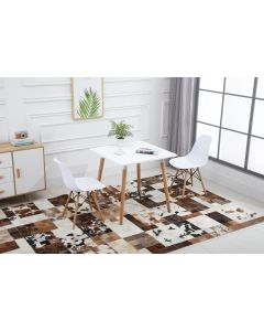 Cenare Dining Set (Dining Table With 2 X Plastic Chair) White