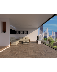 Mahmayi EPL009 Wood Parquet Flooring for Home, Office (1292 x 246 x 8 mm) Per 2.6 Square Meter Free Professional Installation - Light Telford Oak