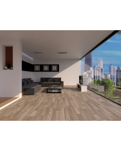 Mahmayi EPL036 100% Wood Parquet Flooring for Home, Office (1292 x 192 x 8 mm) Per Square Meter With Free Professional Installation - Oak