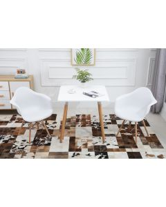 Cenare Dining Set (Dining Table With 2 X Armchair) White