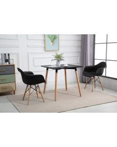 Cenare Dining Set (Dining Table With 2 X Armchair) Black