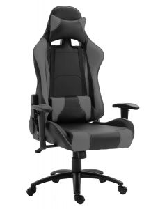 Gumi 09854 High Back Black & Grey Video Gaming Chair with PU Leatherette