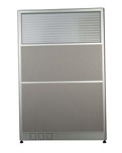 Enva GT60 160 Height Glass 100 Width Aluminium Office Partition Panel