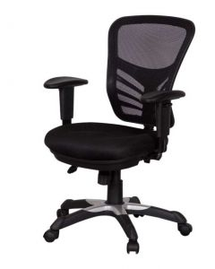 Mod Art 0001 Low Back Ergonomic Mesh Chair Black