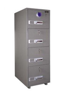 SecurePlus 680-4DK 4 Drawer Fire Filing Cabinet 300Kgs - Digital