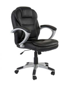 Tracy 2201 Executive Low Back Chair Black PU