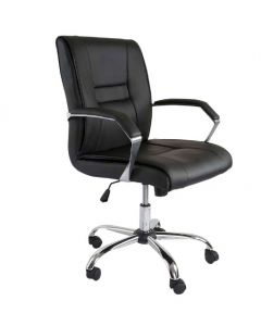 Astro 2204 Executive Low Back Chair Black PU