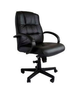 Atvor 708-1 Executive Low Back Chair Black Leather