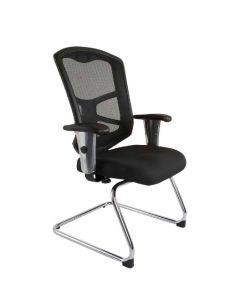 Cadeira 9094 Visitors Chair Black Mesh