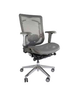 Silla 97729 Medium Back Ergonomic Mesh Chair Grey