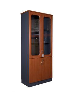 Maxim 209 Cherry Full Height Glass Bookshelf with Digital Lock